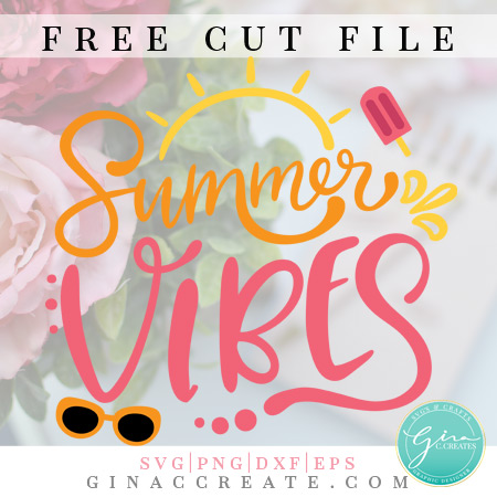 summer vibes free svg cricut cut file