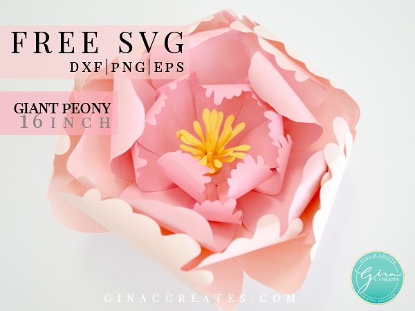 giant peony paper flower template svg
