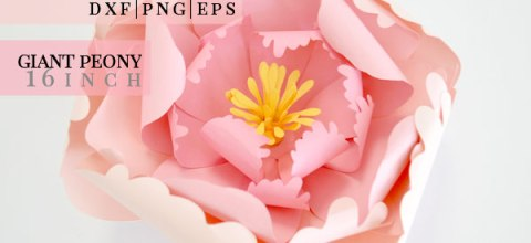 Peony Giant Paper Flower | Free SVG Cut File