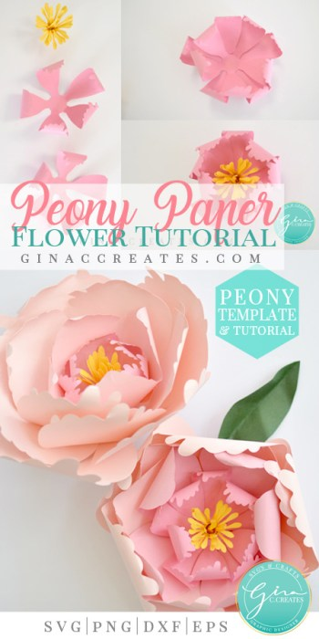 how to make a paper flower peony with cricut