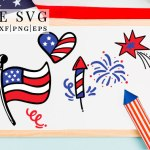 free patriotic svg, 4th of july cricut crafts, flag svg, fireworks svg