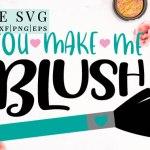 cosmetic svg, makeup svg, blush brush svg