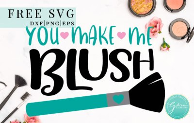 cosmetic svg, makeup svg, blush brush svg