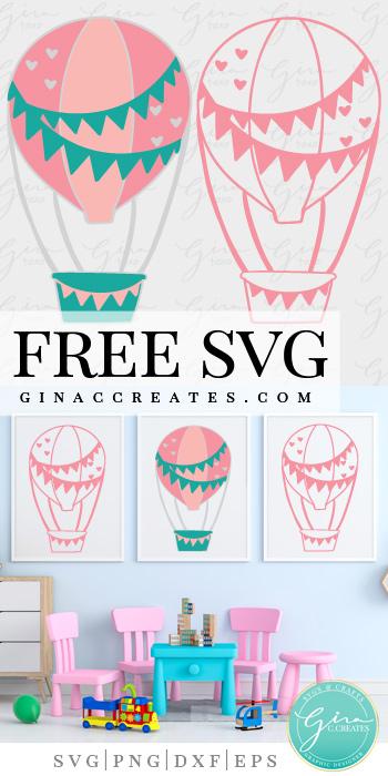 free svg hot air balloon cricut craft