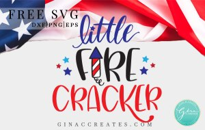 free little firecracker svg, kids 4th of July shirt