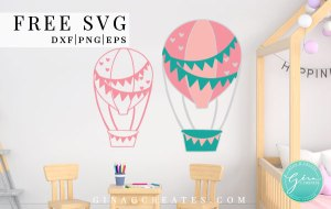 free svg hot air balloon cricut craft