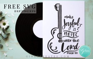 guitar svg, music notes svg, joyful svg