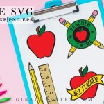 teacher tribe svg, back to school svg, apple svg