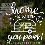 camper trailer free svg