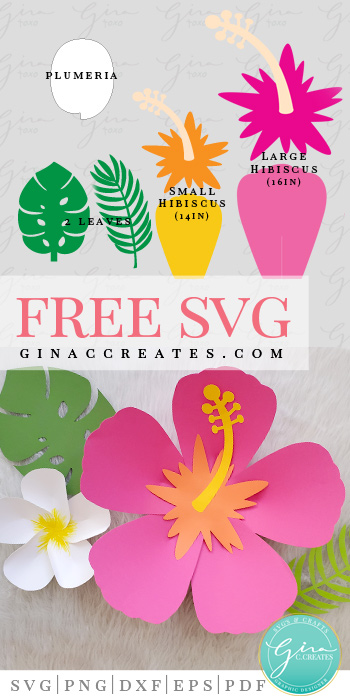 Hawaiian Paper Flower Template Svg Gina C Creates