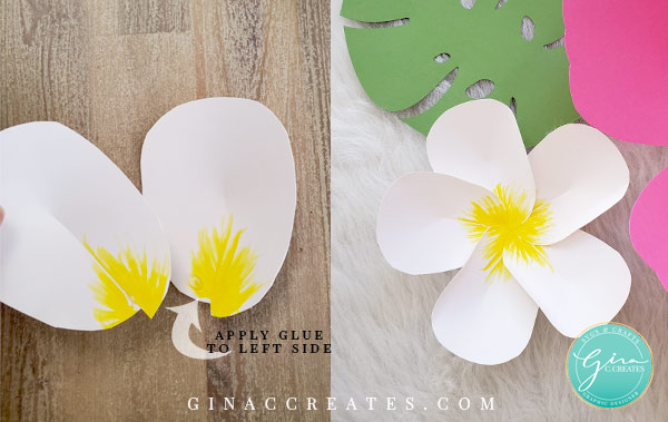 Hawaiian plumeria paper flower tutorial