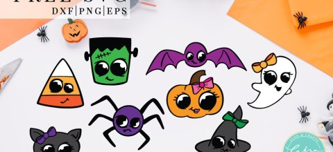 Halloween Monsters SVG & Sticker Sheet