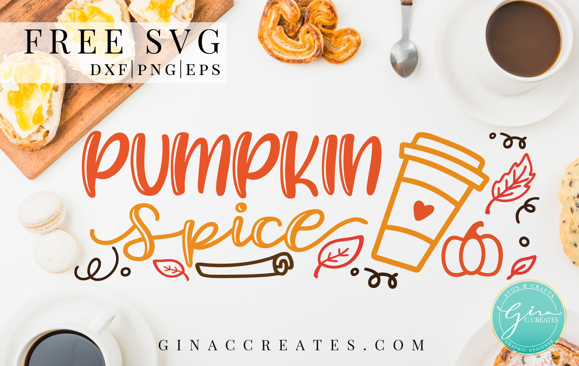free svg autumn pumpkin spice svg, fall leaves svg