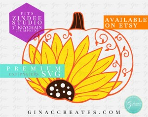 sunflower pumpkin for zindee's 3in pumpkin blank