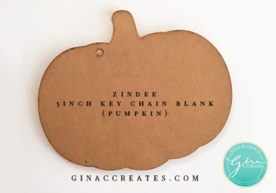 zindee 3 inch pumpkin acrylic blank