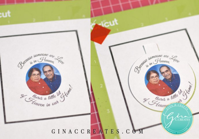 how to make a memorial ornament with your cricut