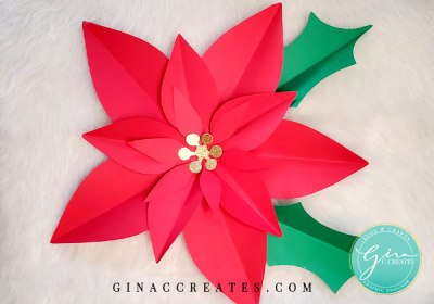 how to make a paper flower poinsettia free svg