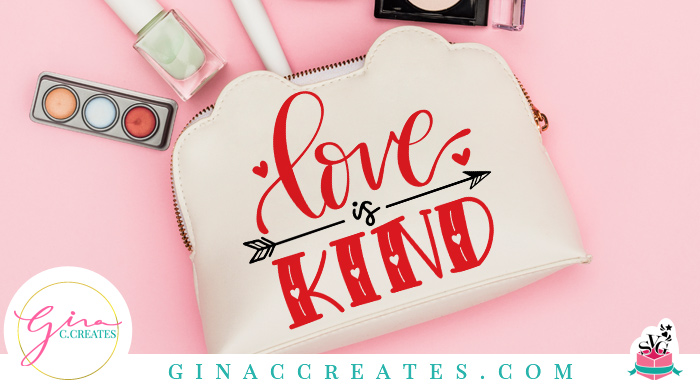love is kind valentines day free svg cut file