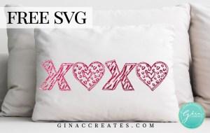 xoxo leopard zebra print valentine's day free svg
