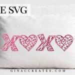 Hugs Kisses Valentine S Day Free Svg Cut File Gina C Creates