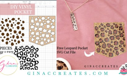 How to Make a Leopard Pocket with a Cricut Machine