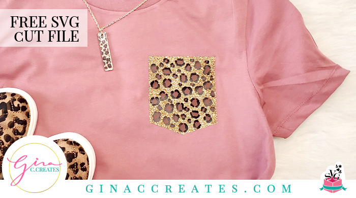 Leopard Pocket Free Svg Cut File Gina C Creates