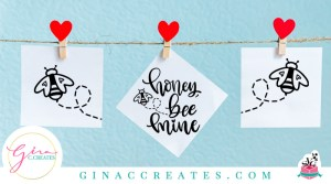 honey bee mine valentine's day free svg craft
