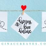 honey bee mine valentine's day free svg craft
