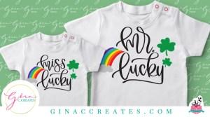 st. Patrick's day free svg Mr. & Miss. lucky svg