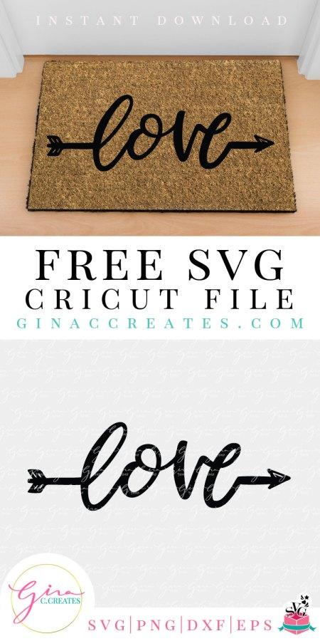Love Word Arrow Free Svg Cut File Gina C Creates