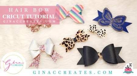 how to make a faux leather har bow with cricut machine free svg