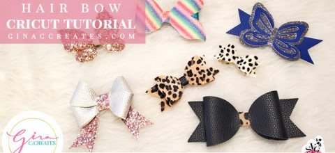 How to make Faux Leather Hair Bows with Cricut Machine