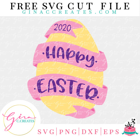Happy Easter egg 2020 free svg hoilday cricut file