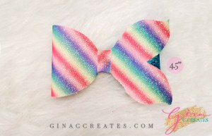 mermaid tail hair bow svg template for cricut, rainbow bow