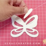 butterfly hair bow svg template for cricut