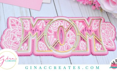 Mother's Day 3D Paper MOM Free SVG Cut File