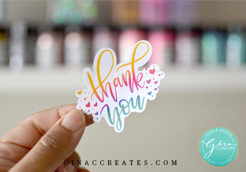 free thank you sticker printable for packages