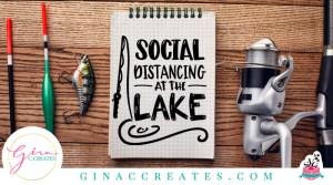 social distancing at the lake free svg cut file