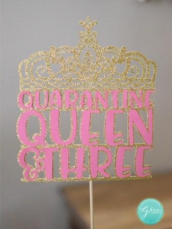 quarantine queen crown free svg