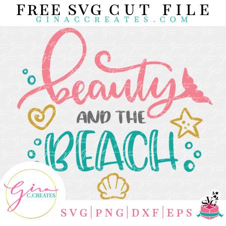 free beach svg cut file