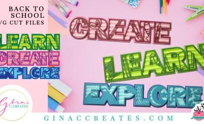 3D Learn Create Explore Free SVG Cut File