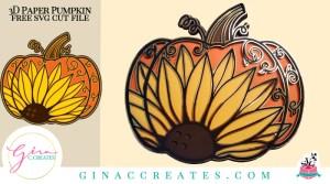3D paper mandala Sunflower Pumpkin Free SVG