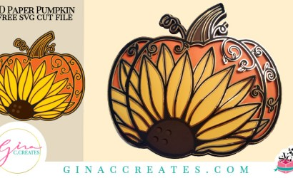 3D Sunflower Pumpkin SVG Cut File