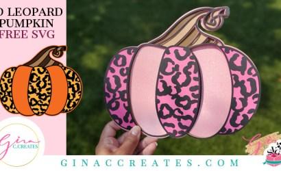 3D Leopard Pumpkin Mandala SVG Cut File