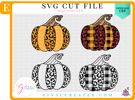 leopard pumpkin svg cut file