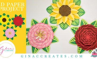 3D Flower Mandala Paper Project with Free SVG
