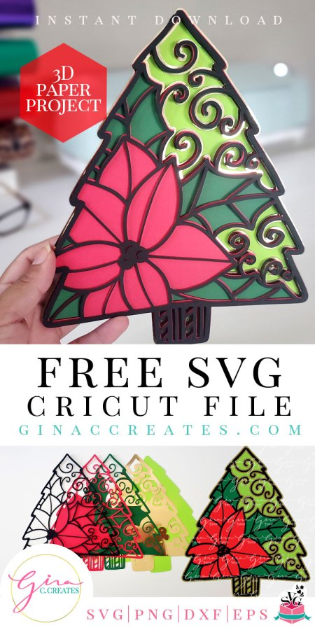 3d paper mandala free svg, Christmas free svg