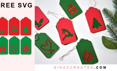 Christmas Gift Tags Free SVG Cut File
