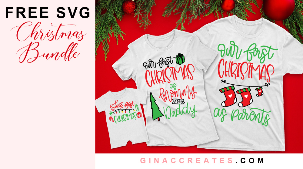 our first Christmas as parents free svg bundle