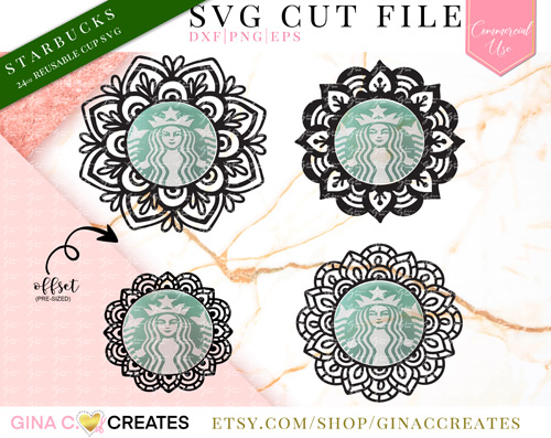 mandala svg bundle starbucks cup